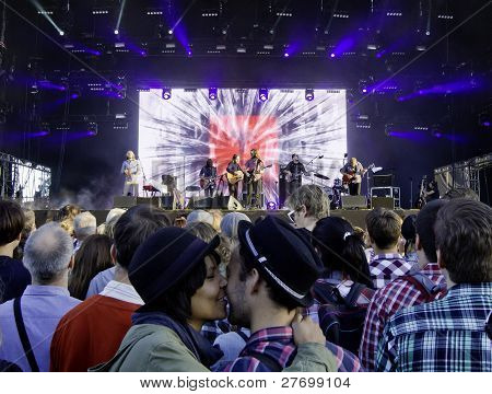 American Band Midlake performs live on stage
