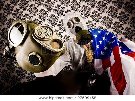 Máscara de gás & louco