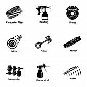 Fix Machinery Icons Set. Simple Set Of 9 Fix Machinery Icons For Web Isolated On White Background poster