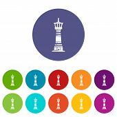 Tall Lighthouse Icon. Simple Illustration Of Tall Lighthouse Icon For Web poster