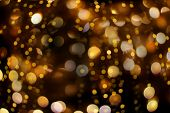 Abstract Bokeh Background With Beautiful Shiny Festive Lights Of Circles Creating A Magic Atmosphere poster