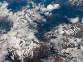 Aerial View Of Swiss Alps poster