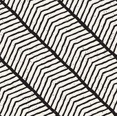 Simple Ink Geometric Pattern. Monochrome Black And White Lines Background. Hand Drawn Ink Brushed Zi poster