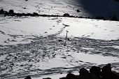 picture of aconcagua  - Aconcagua water source through frozen ice at Camp Two - JPG