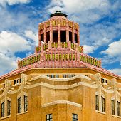 foto of asheville  - Art deco terracotta tile roof of City Hall in Asheville - JPG