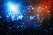 New Large Panoramic Looking Into Deep Space. Dark Night Sky Full Of Stars. The Nebula In Outer Space poster