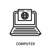 Computer Icon Isolated On White Background. Computer Icon Simple Sign. Computer Icon Trendy And Mode poster