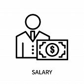 Salary Icon Isolated On White Background. Salary Icon Simple Sign. Salary Icon Trendy And Modern Sym poster