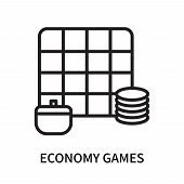 Economy Games Icon Isolated On White Background. Economy Games Icon Simple Sign. Economy Games Icon  poster