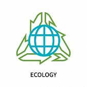 Ecology Icon Isolated On White Background. Ecology Icon Simple Sign. Ecology Icon Trendy And Modern  poster