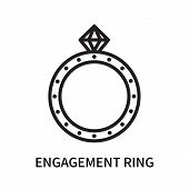 Engagement Ring Icon Isolated On White Background. Engagement Ring Icon Simple Sign. Engagement Ring poster