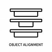Object Alignment Icon Isolated On White Background. Object Alignment Icon Simple Sign. Object Alignm poster