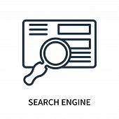Search Engine Icon Isolated On White Background. Search Engine Icon Simple Sign. Search Engine Icon  poster