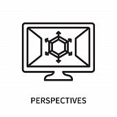 Perspectives Icon Isolated On White Background. Perspectives Icon Simple Sign. Perspectives Icon Tre poster