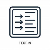 Text In Icon Isolated On White Background. Text In Icon Simple Sign. Text In Icon Trendy And Modern  poster