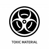 Toxic Material Icon Isolated On White Background. Toxic Material Icon Simple Sign. Toxic Material Ic poster