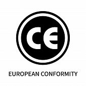 European Conformity Icon Isolated On White Background. European Conformity Icon Simple Sign. Europea poster
