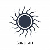 Sunlight Icon Isolated On White Background. Sunlight Icon Simple Sign. Sunlight Icon Trendy And Mode poster