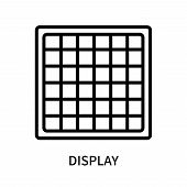 Display Icon Isolated On White Background. Display Icon Simple Sign. Display Icon Trendy And Modern  poster