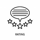 Rating Icon Isolated On White Background. Rating Icon Simple Sign. Rating Icon Trendy And Modern Sym poster