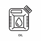 Oil Icon Isolated On White Background. Oil Icon Simple Sign. Oil Icon Trendy And Modern Symbol For G poster