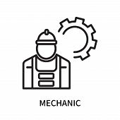Mechanic Icon Isolated On White Background. Mechanic Icon Simple Sign. Mechanic Icon Trendy And Mode poster