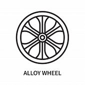 Alloy Wheel Icon Isolated On White Background. Alloy Wheel Icon Simple Sign. Alloy Wheel Icon Trendy poster