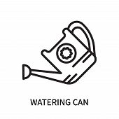 Watering Can Icon Isolated On White Background. Watering Can Icon Simple Sign. Watering Can Icon Tre poster
