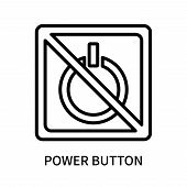 Power Button Icon Isolated On White Background. Power Button Icon Simple Sign. Power Button Icon Tre poster