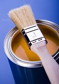 picture of paint brush  - Paint and brush - JPG