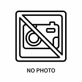 No Photo Icon Isolated On White Background. No Photo Icon Simple Sign. No Photo Icon Trendy And Mode poster