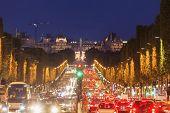 Champs-elysees In Paris In France. Paris, Ile-de-france, France. poster