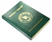 stock photo of bangla  - Close up of Bangladeshi passport over white background - JPG