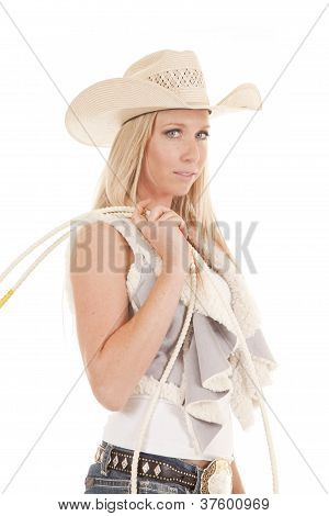 Cowgirl Rope Looking