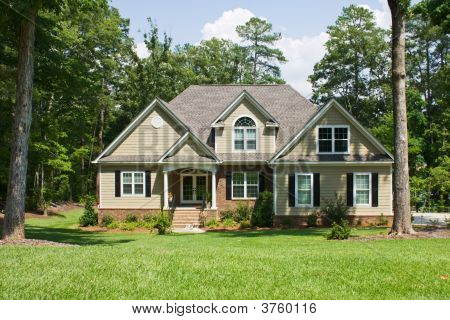 Upscale Home On Forested Lot