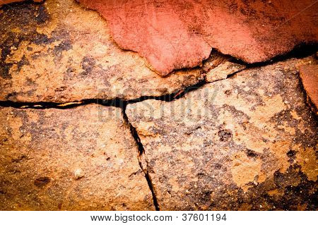 cracked terracotta background