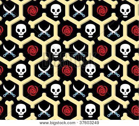 Seamless Bandit Theme Pattern