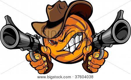 Cowboy Basketball Cartoon Shootout