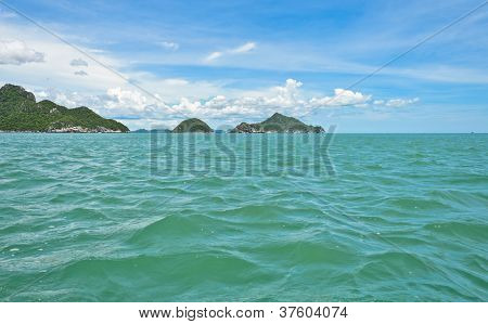 Seascape With Limestone Mountains
