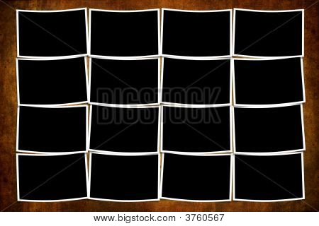 Empty Photos OverGrunge Background