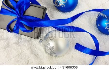 Christmas Gift On Snow