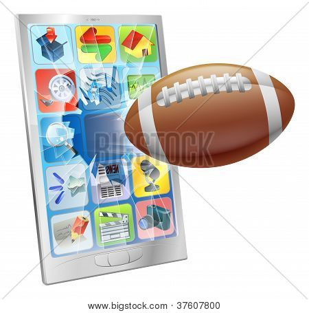 American Football Ball Mobile Phone