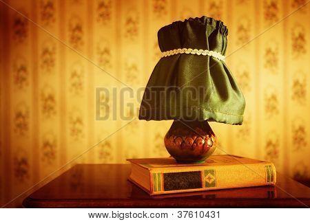 Retro Lamp And Book