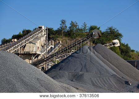 Piles Of Gravel