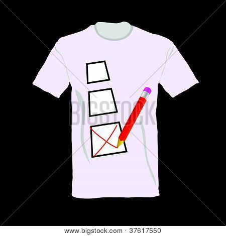 T-shirt With Ticking Vector Illustration