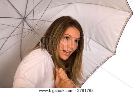 Woman Under Umbrella