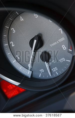 Engine Tachometer In Sportscar