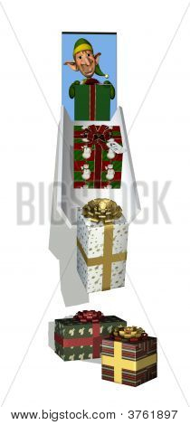 Santa\'S Elf With Gift Chute