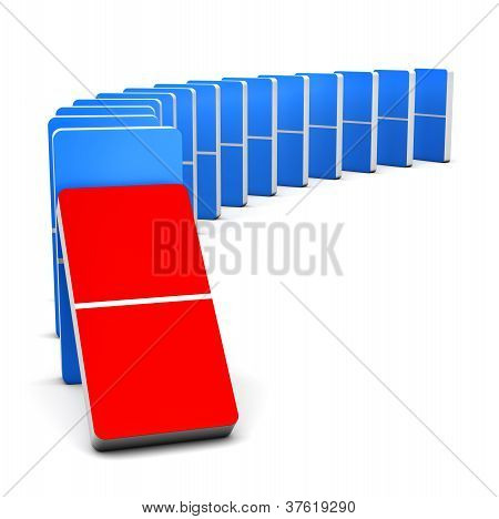 Red And Blue Domino