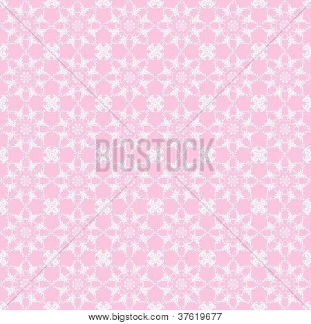 Baby Pink & White Kaleidoscope